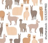 seamless pattern with cute... | Shutterstock .eps vector #1215239983