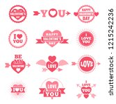 labels and badges for valentine ... | Shutterstock . vector #1215242236