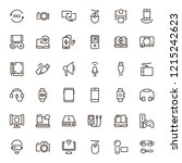 device flat icon set . single... | Shutterstock .eps vector #1215242623