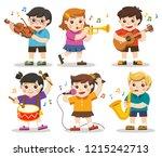 set illustration of kids...   Shutterstock .eps vector #1215242713
