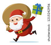 merry christmas. santa claus... | Shutterstock .eps vector #1215242956