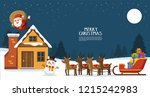 merry christmas and happy new... | Shutterstock .eps vector #1215242983