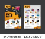 2 sides flyer template for... | Shutterstock .eps vector #1215243079