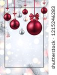 shiny merry christmas and happy ... | Shutterstock .eps vector #1215246283