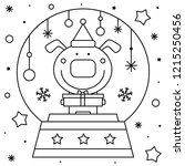 Snow Globe With A Dog. Coloring ...