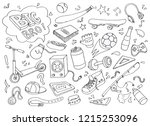hand drawn set of teenage... | Shutterstock .eps vector #1215253096