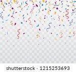 colorful bright confetti... | Shutterstock .eps vector #1215253693