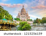 sacre coeur cathedral on... | Shutterstock . vector #1215256159