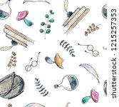 watercolor hand drawn sketch...   Shutterstock . vector #1215257353