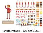 vector young adult man in... | Shutterstock .eps vector #1215257653