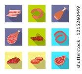 vector design of meat and ham... | Shutterstock .eps vector #1215260449