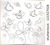 stylized vintage butterflies... | Shutterstock .eps vector #121527028