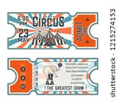 circus show front and back side ... | Shutterstock .eps vector #1215274153