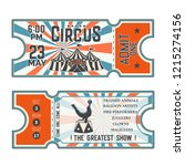 circus show front and back side ... | Shutterstock .eps vector #1215274156