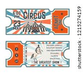 circus show front and back side ... | Shutterstock .eps vector #1215274159