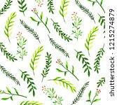 christmas watercolor background | Shutterstock . vector #1215274879