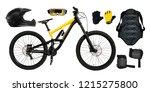 set of mountain bike  back... | Shutterstock . vector #1215275800