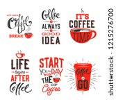 coffe set.vector illustration. | Shutterstock .eps vector #1215276700