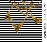baroque golden chain background.... | Shutterstock . vector #1215277099