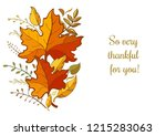 so very thankful for you.... | Shutterstock .eps vector #1215283063