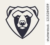 bear mascot vector art. frontal ... | Shutterstock .eps vector #1215284359