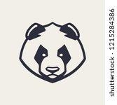 panda mascot vector art.... | Shutterstock .eps vector #1215284386
