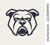 bulldog mascot vector art.... | Shutterstock .eps vector #1215284443
