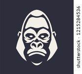 gorilla mascot vector art.... | Shutterstock .eps vector #1215284536