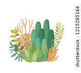 tropical house plants and... | Shutterstock .eps vector #1215285166