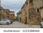spain  pubol. street near gala... | Shutterstock . vector #1215288460