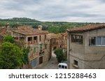 spain  pubol. street near gala... | Shutterstock . vector #1215288463