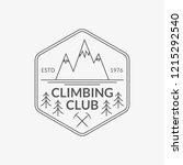 mountain badge. rock climbing...   Shutterstock .eps vector #1215292540