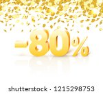 big discount  action with share ...   Shutterstock .eps vector #1215298753
