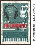music sound recording studio ... | Shutterstock .eps vector #1215299146