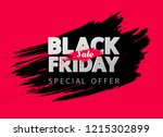 black friday sale red abstract... | Shutterstock .eps vector #1215302899