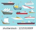 ships at sea  shipping boats ... | Shutterstock .eps vector #1215310009
