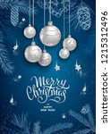 merry christmas and happy new... | Shutterstock .eps vector #1215312496
