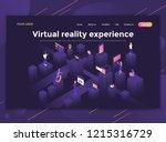 modern flat design isometric... | Shutterstock .eps vector #1215316729