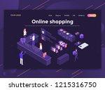 modern flat design isometric... | Shutterstock .eps vector #1215316750