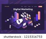 modern flat design isometric... | Shutterstock .eps vector #1215316753