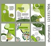agricultural brochure layout... | Shutterstock .eps vector #1215317806
