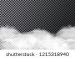 smoke cloud on transparent...   Shutterstock .eps vector #1215318940