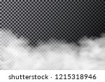 smoke cloud on transparent... | Shutterstock .eps vector #1215318946