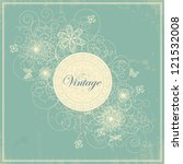 vector illustration of floral... | Shutterstock .eps vector #121532008