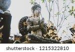 symbols and deities of buddhism ...   Shutterstock . vector #1215322810