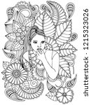 Page For Coloring Book. Girl...