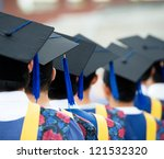 back of graduates during... | Shutterstock . vector #121532320
