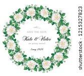 romantic  wreath of flowers ... | Shutterstock .eps vector #1215327823