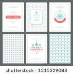 merry christmas greeting cards... | Shutterstock .eps vector #1215329083