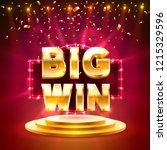 big win casino banner text on... | Shutterstock .eps vector #1215329596